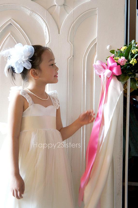 زفاف - Flower Girls dress,  Ivory flower girl dress, Country flower girl dress, Girl birthday outfit, Rustic flower girl dress, Lace girl dress.