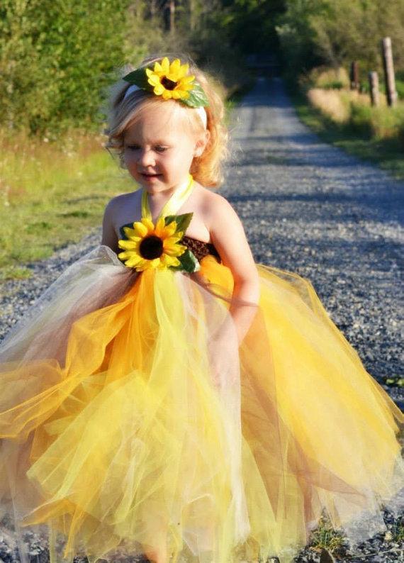 Sunflower tutu dress wedding sunflower flower girl dress wedding sunflower flower girl dressrthday tutu dressgeant dressoto shoot tutu dress mightylinksfo