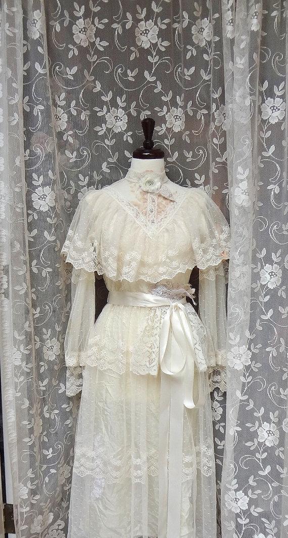 Romantic Cowgirl Wedding Dress,Altered Couture Wedding Dress,Gunne ...