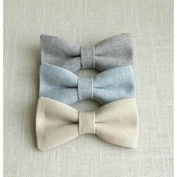1c14f91254df Chambray bow ties - Baby, Newborn, Toddler, Boys bow tie, Grey bowtie, blue  bowtie, Chambray. Wedding bow tie, Ring bearer, Easter bow tie