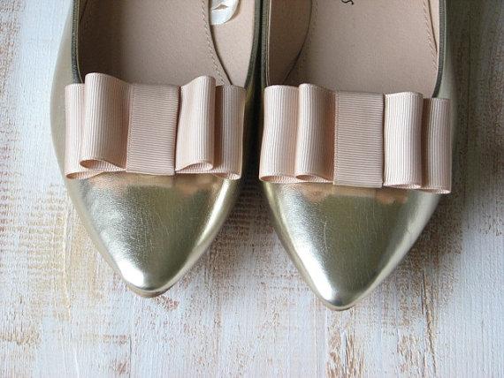 Mariage - Wedding shoe clips Champagne shoe clips Champagne wedding shoes Champagne shoes Cream wedding shoes Ivory wedding shoes Cream bridal shoes