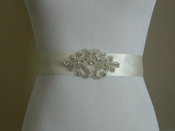 Свадьба - Wedding Sash, Rhinestones Wedding Belt, Crystal Bridal Sash, Jeweled Wedding Sash, Rhinestone Bridal Sash Belt
