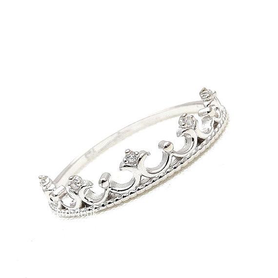 زفاف - sterling silver ring, tiara ring, crown ring, tiara, engagement ring, wedding ring, princess ring, silver ring, woman ring, bridesmaid ring