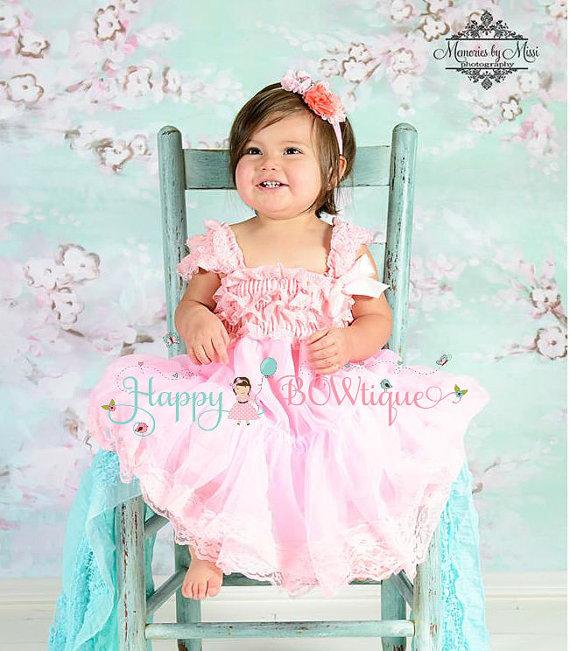 زفاف - Baby Flower girl dress, Flower Girl Dress-Baby Pink Lace Dress,Girls dress,Baby Girls dress,Princess dress,1st Birthday,Pink dress,Baby Girl