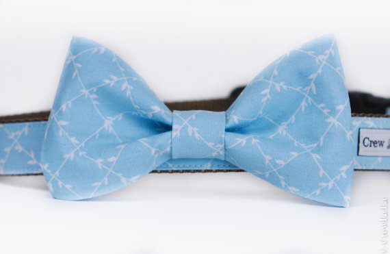 Свадьба - Limited Edition Baby Blue Bow Tie or Belle Bow Dog Collar