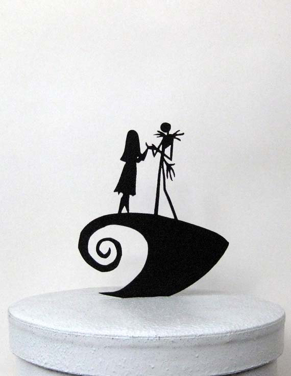 wedding cake topper the nightmare before christmas jack sally