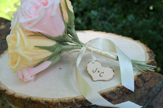 Mariage - Rustic Bouquet Charm/Tag