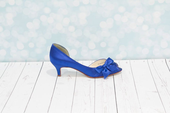 1 3 4 Inch Heel Blue Shoes Wedding Shoes Sapphire Blue