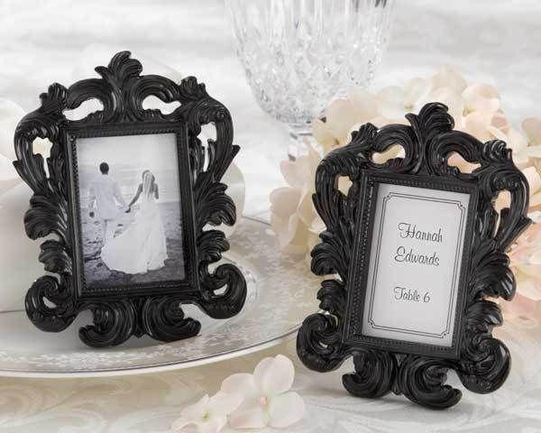 "Mariage - ""Black Baroque"" Elegant Place Card Holder/Photo Frame"