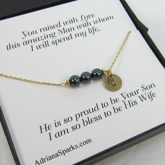 Mother Of The Groom Personalized Bracelet With Thank You Card ...