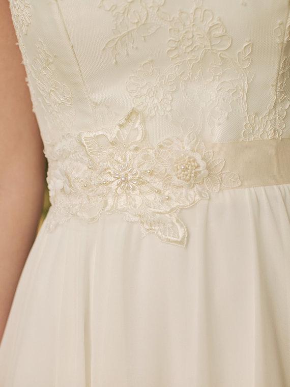 Свадьба - Lace Bridal Sash