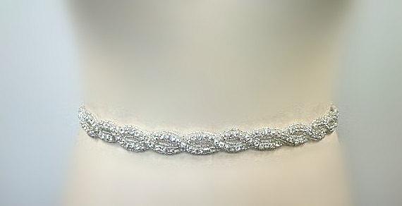 Свадьба - SALE Wedding Belt, Bridal Belt, Sash Belt, Crystal Rhinestone Sash -