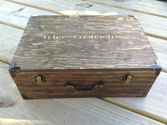 Groomsmen Gift SET OF 6 Engraved Boxes Personalized Engraved Wooden Gift Box Birthday Fathers Day