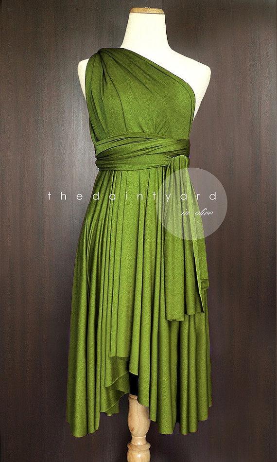 Wedding - Olive Bridesmaid Convertible Dress Infinity Dress Multiway Dress Wrap Dress Wedding Dress
