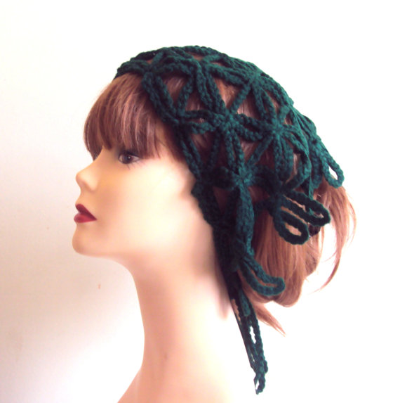 Mariage - Lace Headband Crochet Hair Wrap Yoga Bandana Triangle Scarf Women's Hair Accessories Wedding Accessories Mother's Day Gift Bridal Hair Wrap