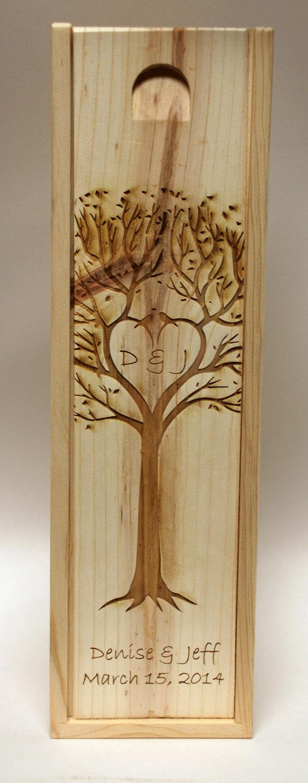 Свадьба - Wedding Engraved Wine Box, Groomsmen gifts, Wedding party gifts, Engraved wedding gifts
