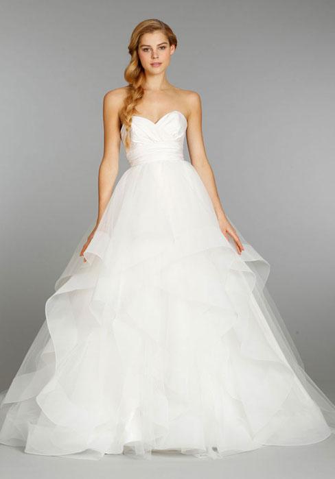 Mariage - Satin,organza Court Train Low A-line Empire Wedding Dress