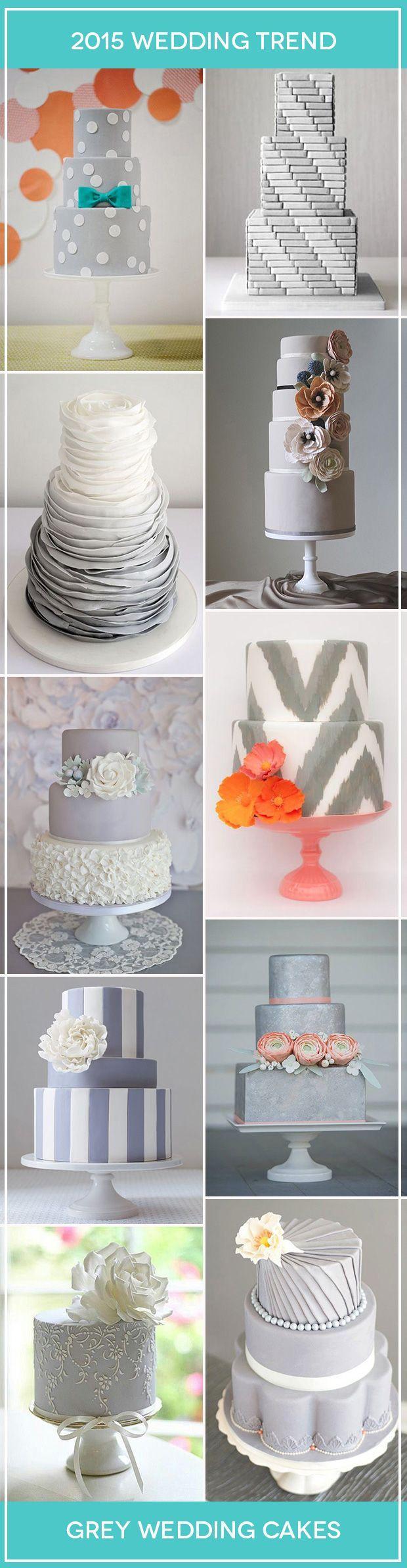زفاف - Elegant And Unusual: Grey Wedding Cakes