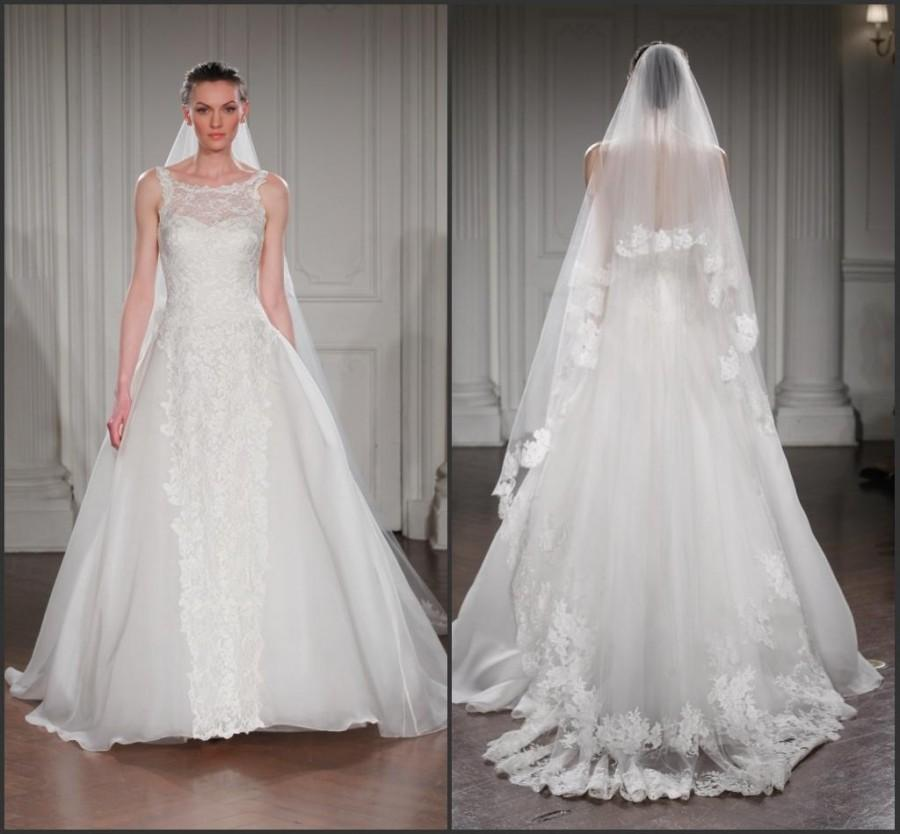 Vintage Sheer 2015 Wedding Dresses A Line Fall Bridal Gowns ...