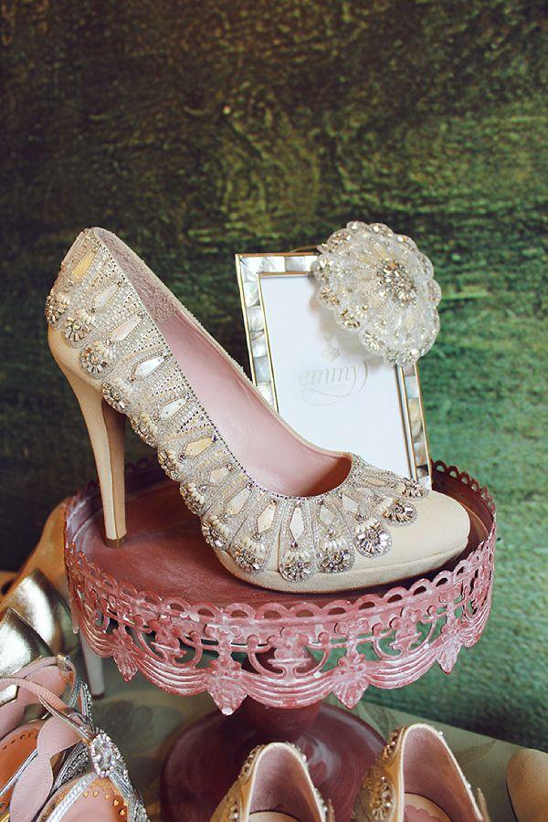 Hochzeit - Claire Pettibone And Emmy Shoes: A Touch Of Wedding Heaven At 'The Castle'