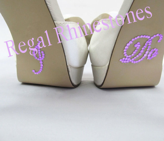 Mariage - I Do Shoe Stickers - Lavender Rhinestone I Do Wedding Shoe Appliques - Rhinestone I Do Shoe Stickers for your Bridal Shoes