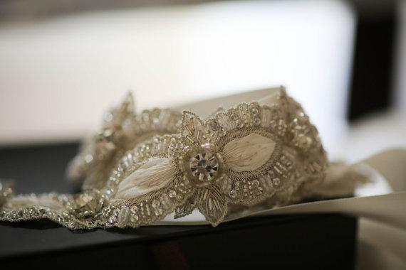 Mariage - Vintage inspired crystal bridal belt, bridal sash - Marlen (Made to Order)