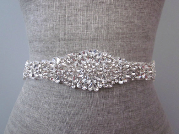 Mariage - Sparkling Crystal glass Rhinestone bridal wedding sash / belt
