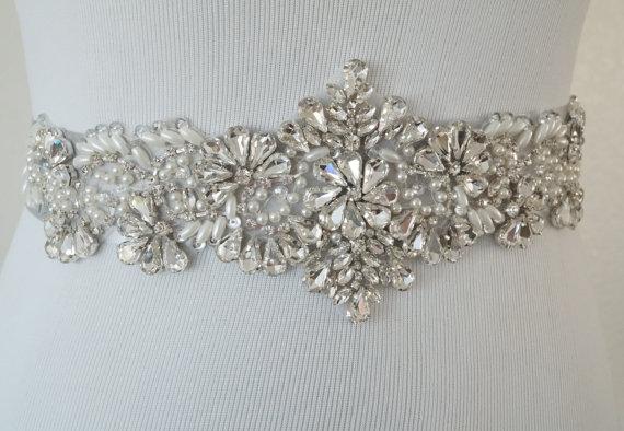 Mariage - Wedding Belt, Bridal Belt, Sash Belt, Crystal Rhinestone, Style 177