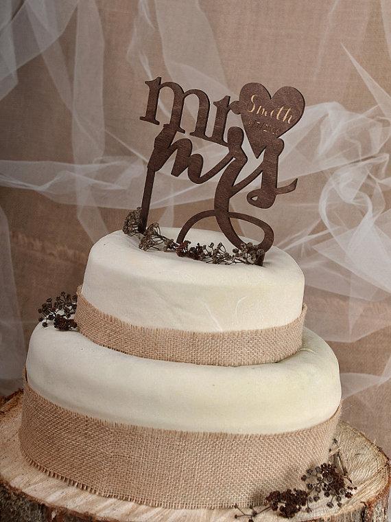 Rustic Cake Topper Wood Cake Topper Monogram Cake Topper Personalized Cake Topper Wedding