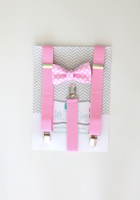 Свадьба - Pink bow tie and suspender set..Baby boy bow tie suspender set..1st birthday boy..Ring bearer outfit..Boys suspenders and bow tie..Weddings