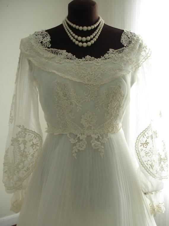 زفاف - Guipure Lace House of Bianchi Wedding Dress with Full Pleated Plisse Skirt