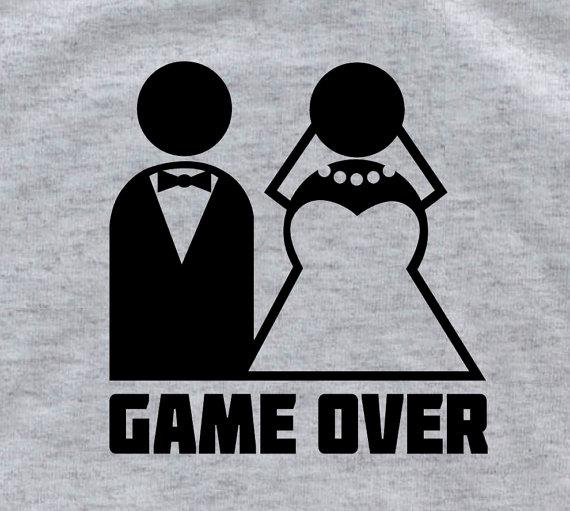 Свадьба - GAME OVER Groom gift from bride groom shirt groomsmen gift bride and groom sign groom tshirt wedding tuxedo shirts groom to be