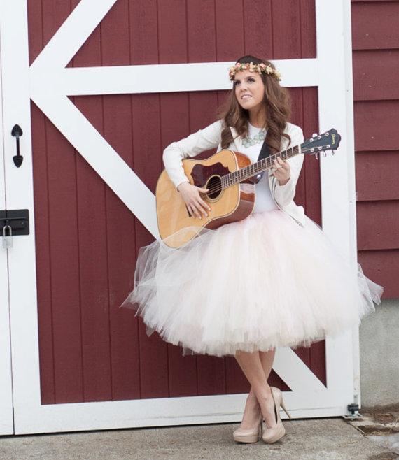 Hochzeit - Rock Star Flower Crown spring hair wreath Music Festivals concert costume accessories Peach bridal wedding dried flowers celebrity style