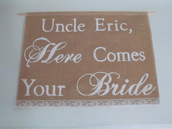 زفاف - Personalized Banner - Large Here Comes Your Bride Banner - Custom Ring Bearer Sign  Here Comes Your Bride Sign - Here Comes The Bride Banner