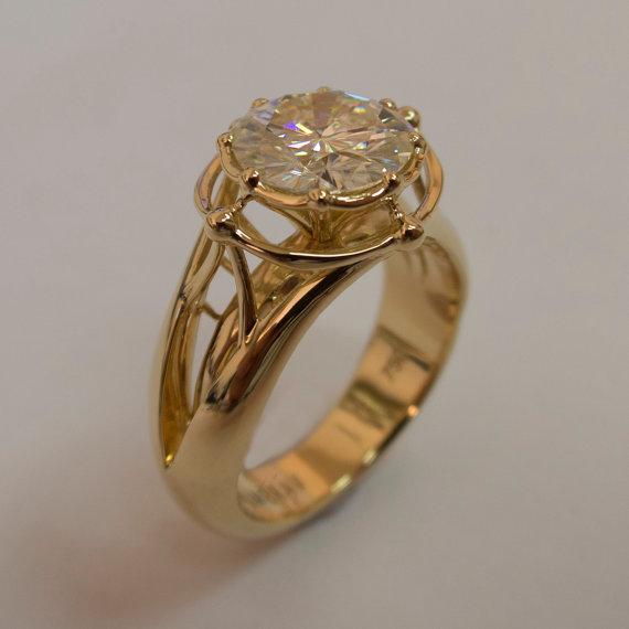 Свадьба - Large Moissanite Ring, Statement Ring, 3ct Ring, Engagement Ring, Cocktail Ring, Large Engagement Ring