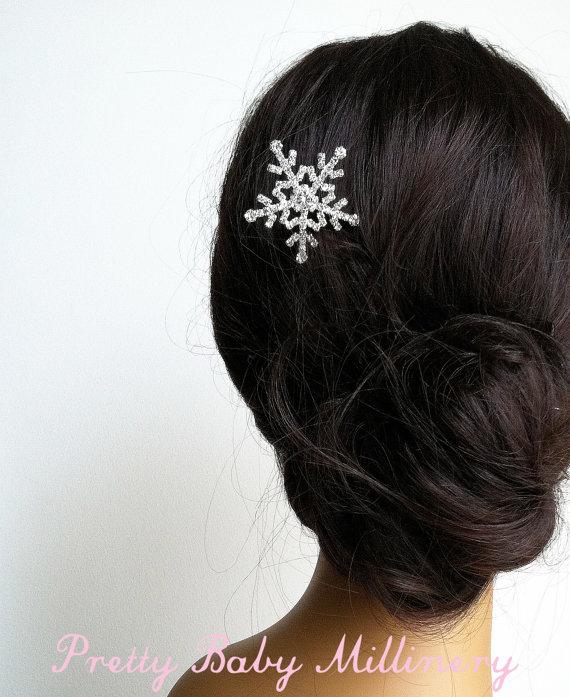 Hochzeit - winter wedding, winter bride, nature, snowflake hair pin hairpin winter hair accessories, Snowflake, snowflake
