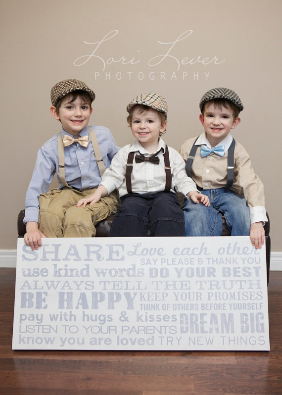 Свадьба - Boy's Accessories - Little Gentleman 3 Piece set - Newsboy Hat with Suspenders and Bow Tie (your choice)