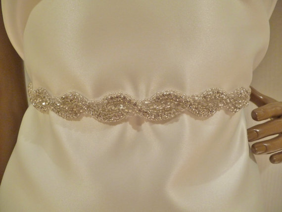 Mariage - Bridal Rhinestone Sash, GABRIELLA, Bridal Belt, Bridal Sash, Crystal Sash, Rhinestone Sash, Braided Sash