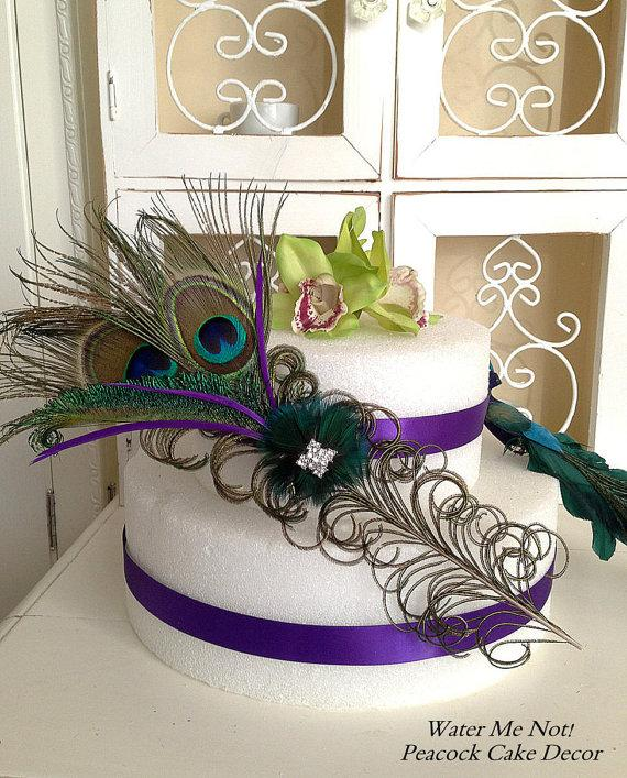 Wedding - Customize this Stunning Peacock Cake Decoration