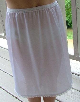 Mariage - TUTU SLIP - White Tricot - Strapless Half Slip -Teen or Girls Slip Size 7/8 Tricot Lingerie