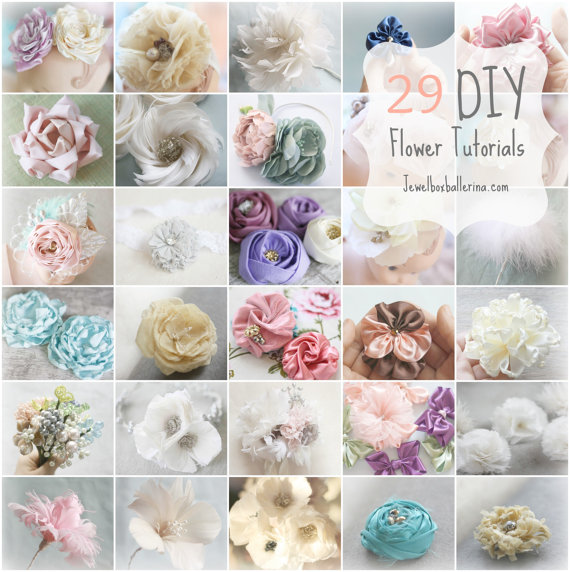 Paper Flower Tutorial Fabric Tutorials Feather ALL 29 40 OFF Diy Wedding Crafts Bouquet Fascinator