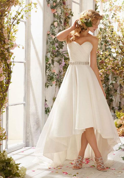 Свадьба - Sweetheart Natural Waist Asymmetric Length Wedding Dress