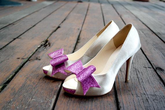 Custom Made Wedding Shoe Purple Glitter Shoes Purple Wedding Shoes Purple Bridal Shoes