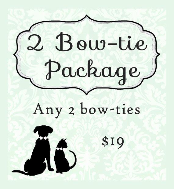 زفاف - 2 Bow tie package - cat bow ties, dog bow ties, pet bow ties
