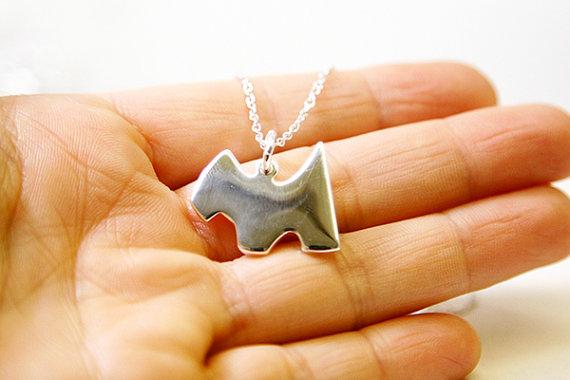 Свадьба - Dog Necklace, Sterling Silver Plated, Diamond Cut Dainty Chain, Minimalist, Nerdy Jewelry, Simple, Everyday Bridal Jewelry Kids Jewelry OOAK