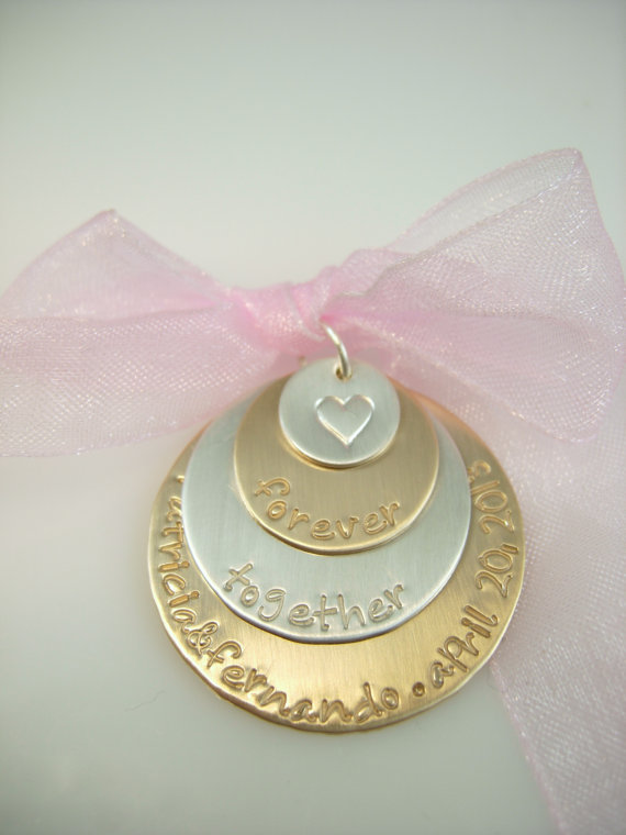 Mariage - Wedding Charm Silver and Gold