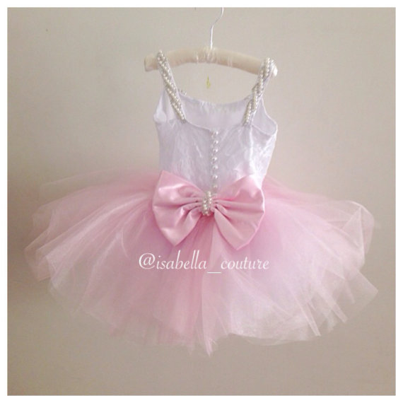 زفاف - BALLERINA TUTU DRESS - Flower Girl Dress - Lace Dress - Girls Lace Dress - Big Bow Dress - Tutu Dress - Wedding Dress by Isabella Couture