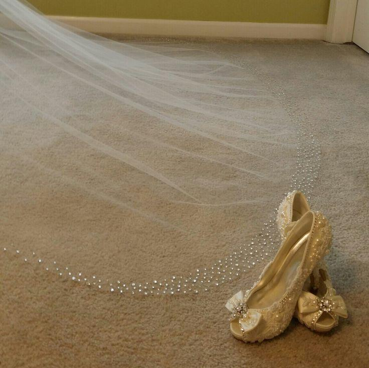 زفاف - New Model !!! Stunning Cathedral Veil With Crystals