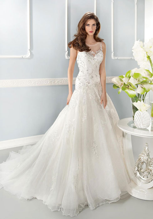 Wedding - Natural Waist Scoop Tulle,lace A-line V-back Wedding Dress