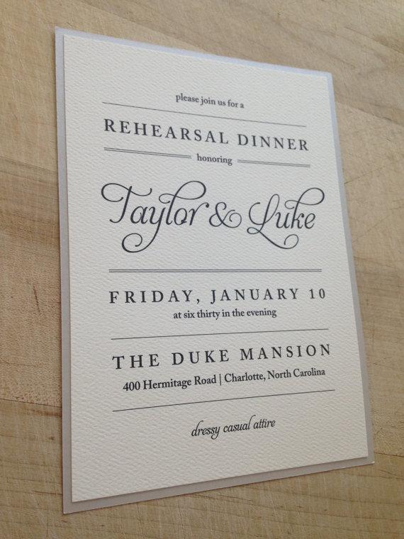 زفاف - DIY Printable Rehearsal Dinner Invitation // Simple and Elegant Invite // Purchase this Listing to Get Started
